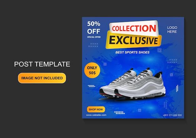 Modèle de promotion de chaussures de sport bannière de médias sociaux