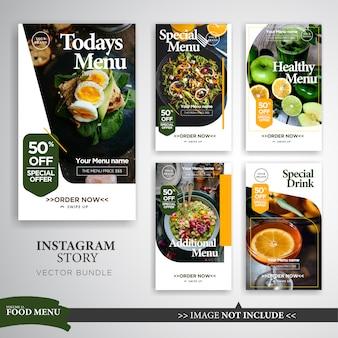 Modèle de promotion des histoires instagram sur les aliments et la gastronomie