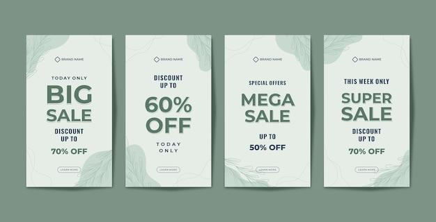 Modèle de promotion d'histoires instagram de vente organique