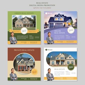 Modèle de promotion des médias sociaux dans l'immobilier