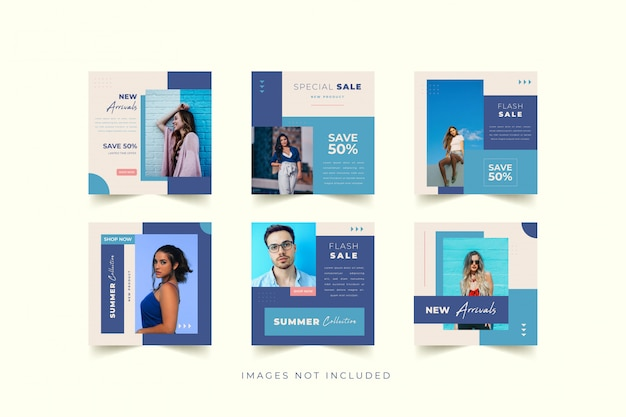 Modèle de promotion des médias sociaux pour la mode