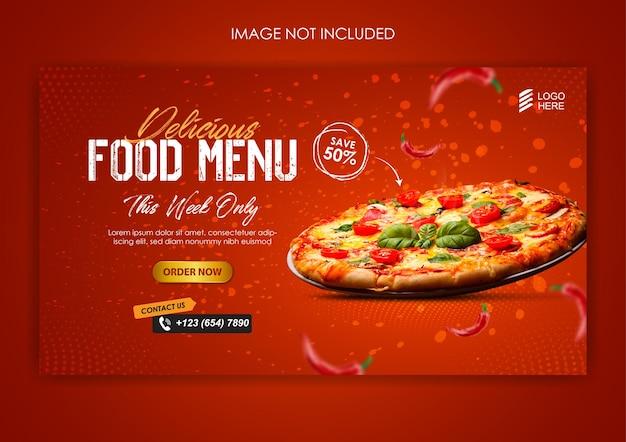 Modèle de promotion et de publication de bannière sur les réseaux sociaux de pizza