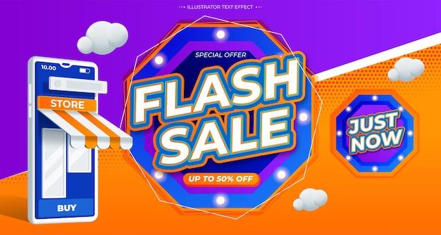 Modèle promotionnel de bannière moderne de vente flash
