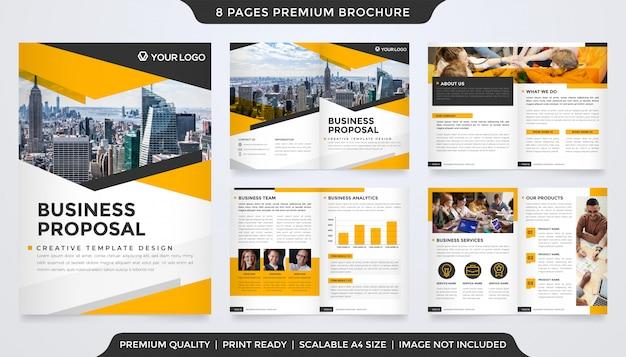 Modèle de proposition d'entreprise style premium