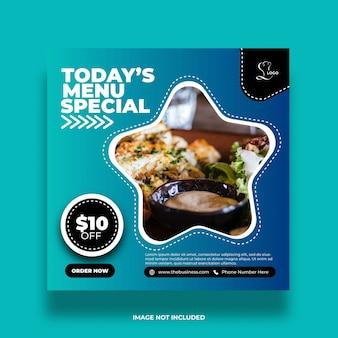 Modèle de publication abstraite de menu sain créatif de menu sain de restaurant
