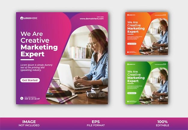 Modèle de publication de agence de marketing instagram