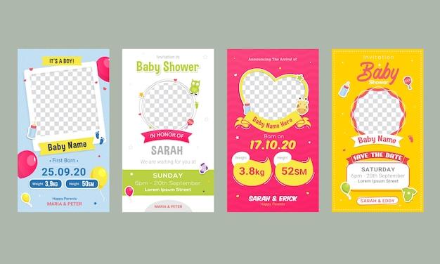 Modèle de publication d'annonce d'anniversaire de bébé sur les médias sociaux