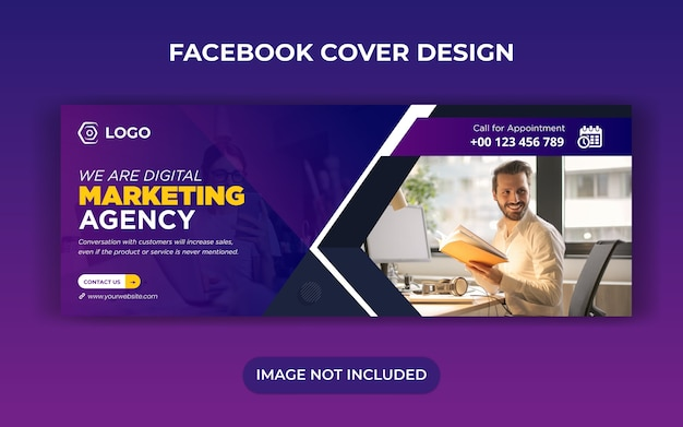 Modèle de publication de bannière de médias sociaux de marketing numérique et photo de couverture