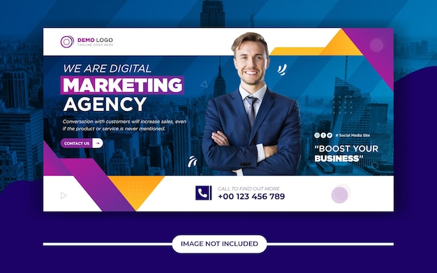 Modèle de publication de bannière de médias sociaux de marketing numérique