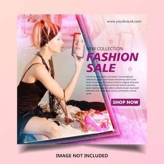 Modèle de publication de bannière de mode instagram