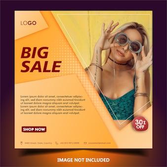 Modèle de publication ou de bannière sur les réseaux sociaux de vente