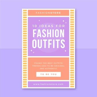 Modèle de publication de blog de mode grille