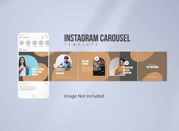 Modèle de publication de carrousel de stratégie instagram