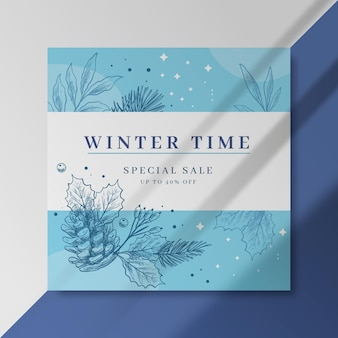 Modèle de publication facebook hiver