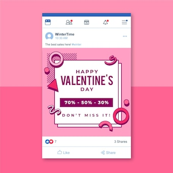 Modèle de publication facebook memphis valentines day