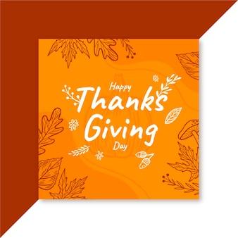 Modèle de publication facebook de thanksgiving