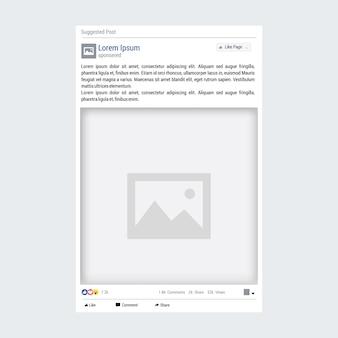 Modèle de publication facebook