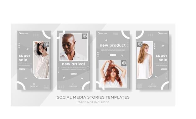 Modèle de publication d'histoires de bannière de vente pour le vecteur premium de la mode