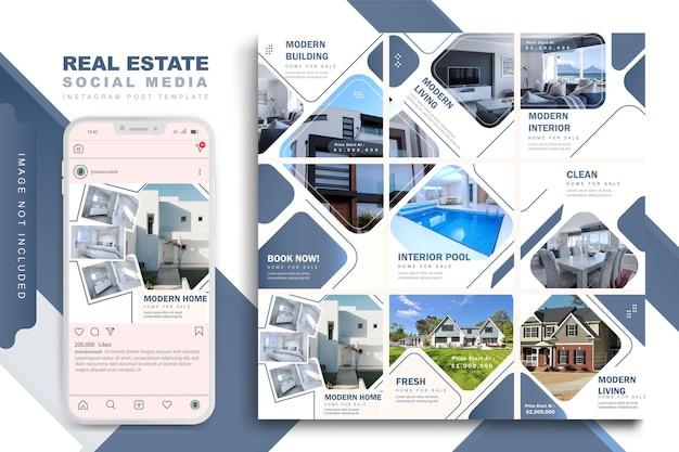 Modèle De Publication Immobilière Vecteur Premium