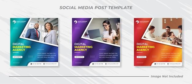 Modèle de publication instagram de l'agence de marketing numérique