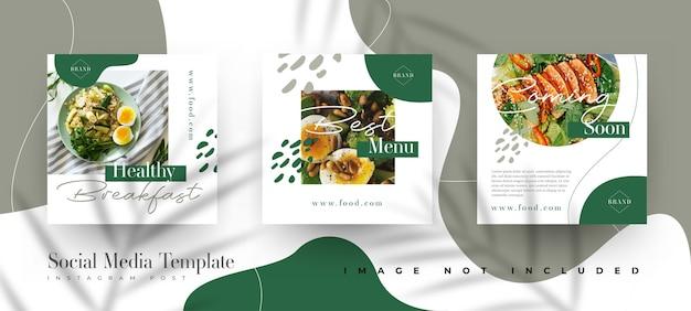 Modèle de publication instagram alimentaire et culinaire