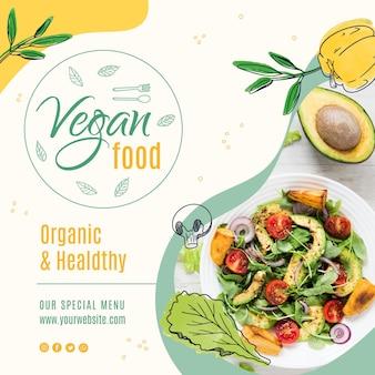 Modèle de publication instagram alimentaire végétalien