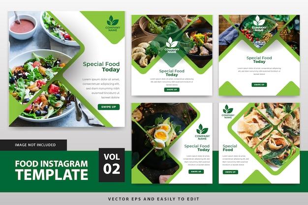Modèle de publication de instagram alimentaire