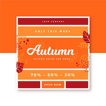 Modèle de publication instagram automne