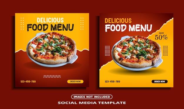 Modèle de publication instagram de bannière de médias sociaux