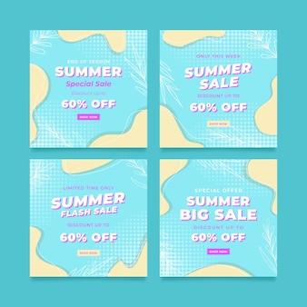 Modèle de publication instagram de bannière de vente spéciale d'été