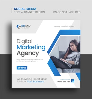 Modèle de publication instagram et de bannière web sur les médias sociaux d'entreprise
