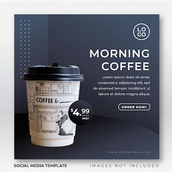 Modèle de publication instagram de boisson pour les médias sociaux