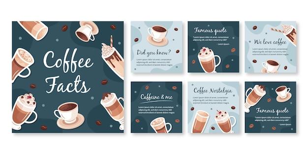 Modèle de publication instagram de café