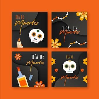 Modèle de publication instagram dia de muertos