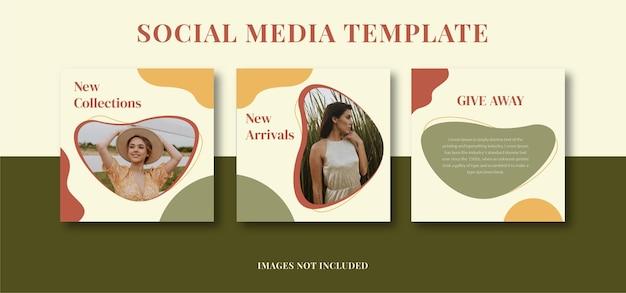 Modèle de publication instagram esthétique minimaliste abstrait