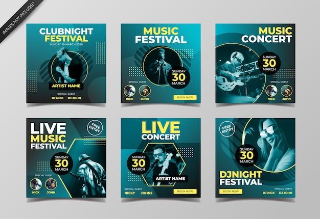 Modèle de publication instagram festival de musique