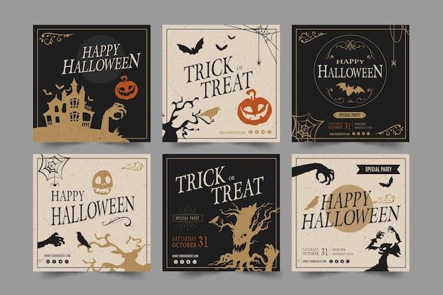 Modèle de publication instagram fête halloween