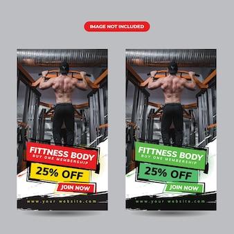 Modèle de publication instagram gym