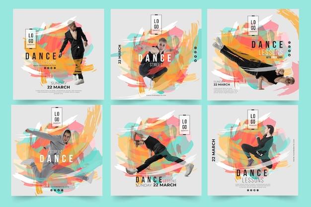Modèle de publication instagram leçons de danse