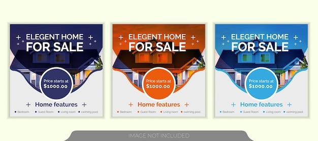 Modèle de publication instagram sur les médias sociaux de l'immobilier