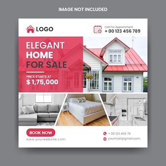Modèle de publication instagram de médias sociaux immobiliers
