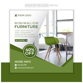Modèle de publication instagram de meubles