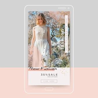 Modèle de publication instagram de mode