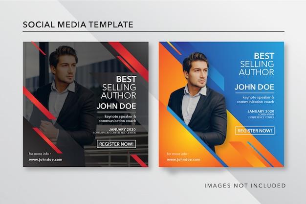 Modèle de publication instagram pour conférencier d'honneur