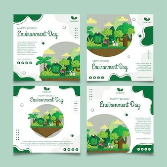 Modèle de publication instagram pour la journée de l'environnement