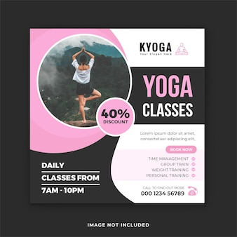 Modèle de publication instagram pour le yoga de méditation et de pleine conscience