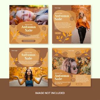 Modèle de publication instagram de promotion de vente d'automne