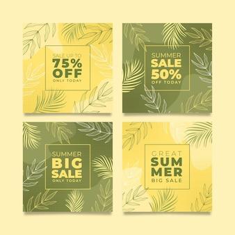 Modèle de publication instagram promotionnel d'été