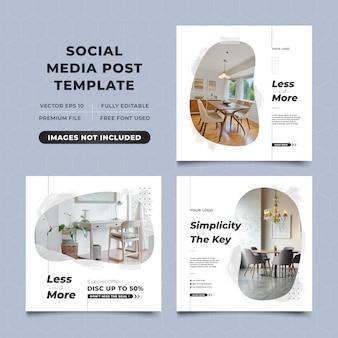 Modèle de publication instagram promotionnel de vente de meubles