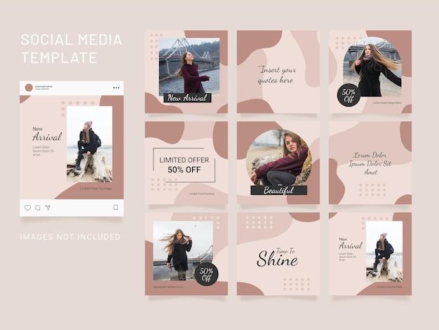 Modèle de publication instagram puzzle fashion